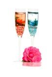 Bougies et Rose décoratives Photographie stock libre de droits