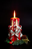 Bougies faites main de Noël Image stock