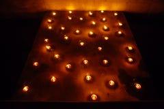 Bougies, festival du feu, vacances païennes en Estonie Images libres de droits