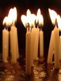 Bougies jaunes Images libres de droits