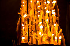 Bougies la nuit Images stock