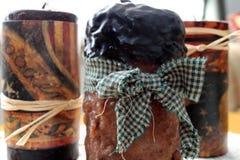 Bougies orientées americana démodées de cire Photo stock