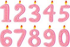 Bougies pourprées Photo stock