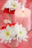 Bougies romantiques image stock