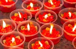 Bougies rouges Photos libres de droits
