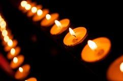 Bougies rouges dans le ministre de York Images libres de droits