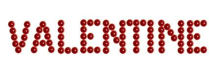 Bougies rouges de valentine comme inscription de valentine au blanc Photos libres de droits