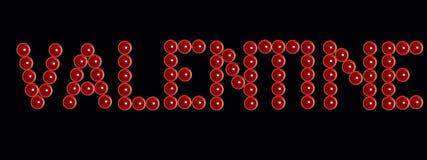 Bougies rouges de valentine comme inscription de valentine au noir Photo libre de droits