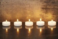 Bougies sur une ligne Photographie stock