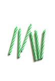 Bougies vertes d'anniversaire Image stock
