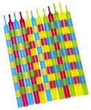Bougies vibrantes d'anniversaire Images stock