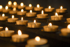 Bougies votives Images stock