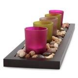 Bougies votives en verre photographie stock