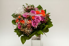 Bouguet. Bouquet of flowers in heart shape Royalty Free Stock Photos