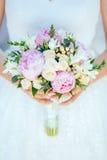 Bouguet de la explotación agrícola de la novia de flores Imagen de archivo