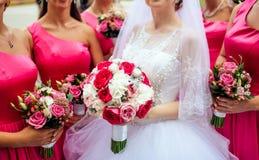 Bouguet de la explotación agrícola de la novia de flores Foto de archivo libre de regalías