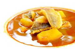 Bouillabaisse, fish soup from Marseille Royalty Free Stock Photo