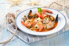 Bouillabaisse squisito Fotografie Stock
