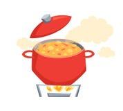 Bouillez la soupe Photos stock