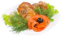 bouilli chiken les oignons Photos libres de droits