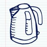 Bouilloire électrique sur le cahier Image libre de droits