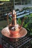 Bouilloire de cuivre Images stock