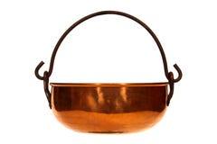 Bouilloire de cuivre antique Photos stock