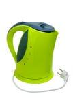 Bouilloire de thé électrique verte d'isolement Images libres de droits
