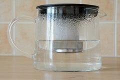 Bouilloire de thé en verre Photos stock