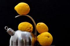 Bouilloire et citrons Photo libre de droits