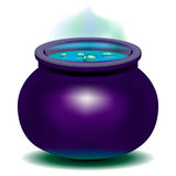Bouilloire magique de sorcière Images stock