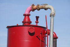 Bouilloire rouge Photos stock