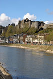 Bouillon castle. Bouillon with his castle at the river Meuse Royalty Free Stock Photo