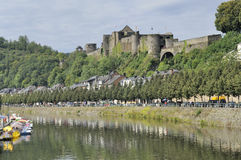 Bouillon castle and semois river, ardennes Royalty Free Stock Photography