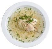 Bouillon de poulet avec des nouilles image stock