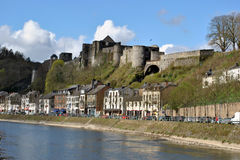 Bouillon. With his castle at the river Meuse Royalty Free Stock Image
