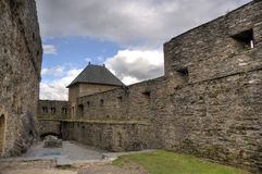 Bouillon  medieval castle in belgium Royalty Free Stock Images
