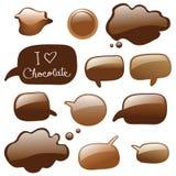 bouillonne le dialogue de chocolat illustration stock
