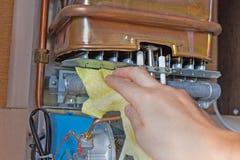 Bouillonnez le chauffe-eau Photographie stock