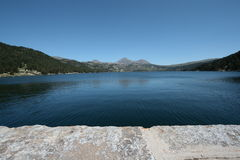 Bouillouses lake in Pyrenees. Orientales,Capcir,Languedoc-Roussillon region of France Royalty Free Stock Photo