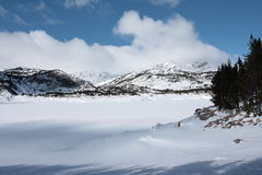 Bouillouses lake in Pyrenees Stock Images