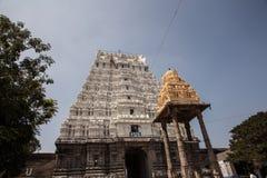14 bouilt世纪印度kamakshiamman kanchipuram nadu泰米尔人寺庙Th 免版税库存照片