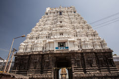 14 bouilt世纪印度kamakshiamman kanchipuram nadu泰米尔人寺庙Th 免版税库存图片