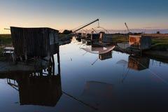 Bouin渔场,端口des冠军,法国 免版税图库摄影