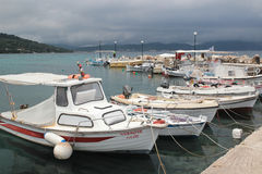 Boukaris beach harbour, Corfu Stock Photography