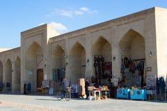 Boukhara, Oezbekistan, de markt van Taqi Sarrafon in het oude stadscentrum Royalty-vrije Stock Foto