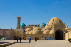 Boukhara, Oezbekistan: De markt van Taqi Sarrafon in oud stadsce Stock Afbeeldingen
