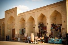 Boukhara, Oezbekistan: De markt van Taqi Sarrafon in oud stadsce Stock Foto's