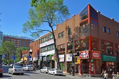 Boul St-Laurent in Chinatown, Montreal. Historic Buildings on Boulevard St-Laurent in Chinatown, Montreal, Quebec, Canada Stock Photos
