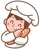 Boulanger de bande dessinée illustration stock